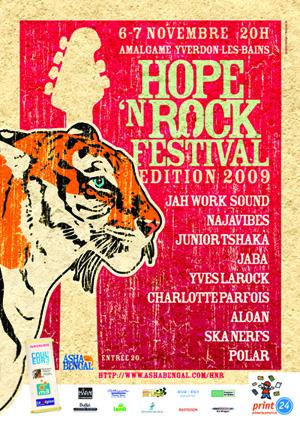 Nous sommes heureux de vous dévoiler la programmation du Hope N Rock 2009  qui aura lieu les 6 et 7 novembre à l Amalgame d Yverdon les Bains. c05fdc58486